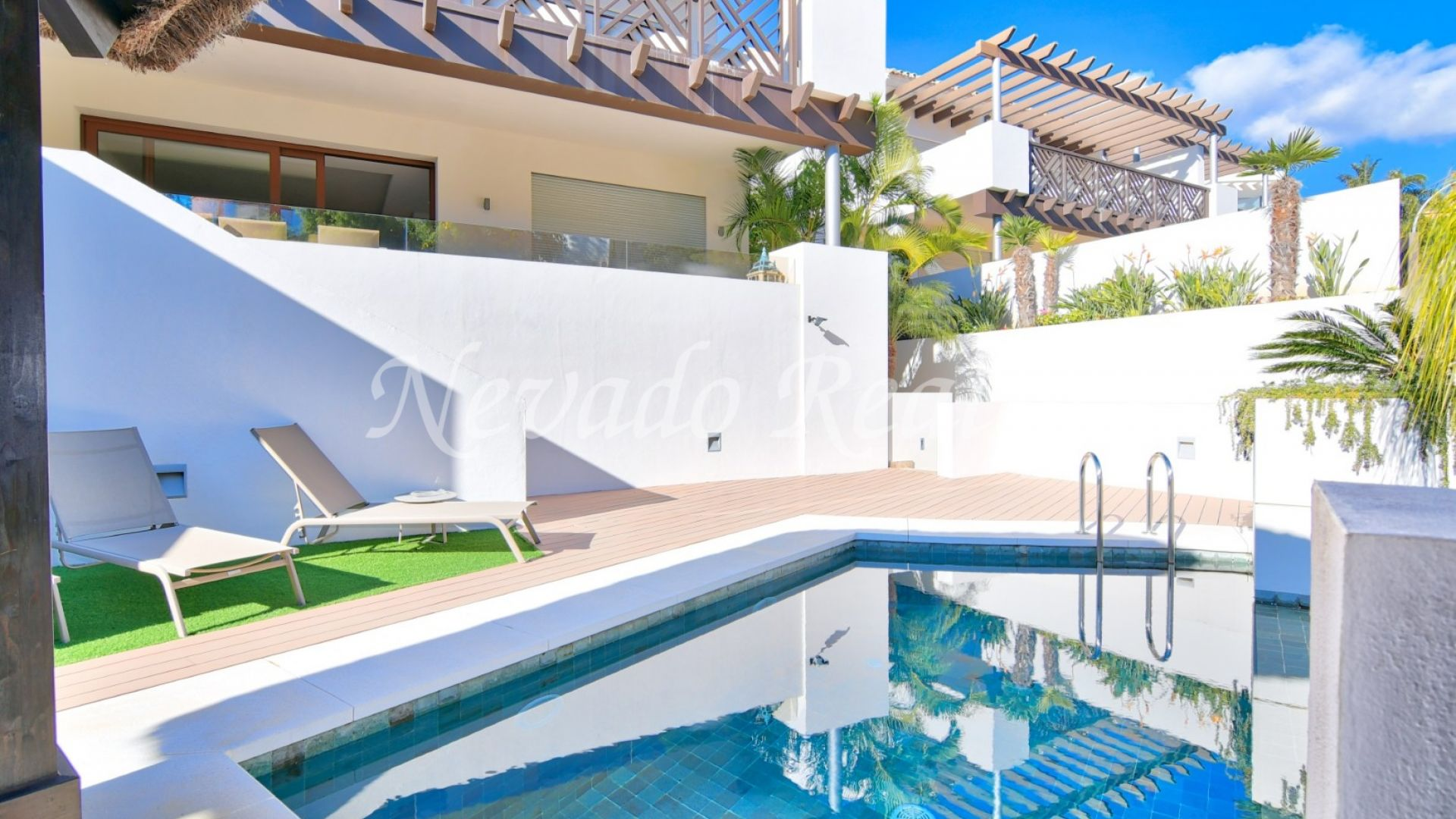 Brand new semi-detached villa for long term rental and to rent with option to buy in Marbella