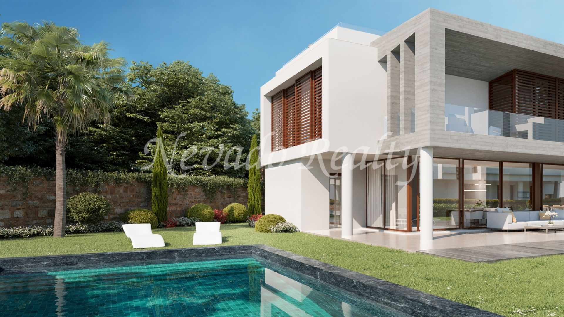 Exceptional location and luxury qualities, semi-detached house with private pool