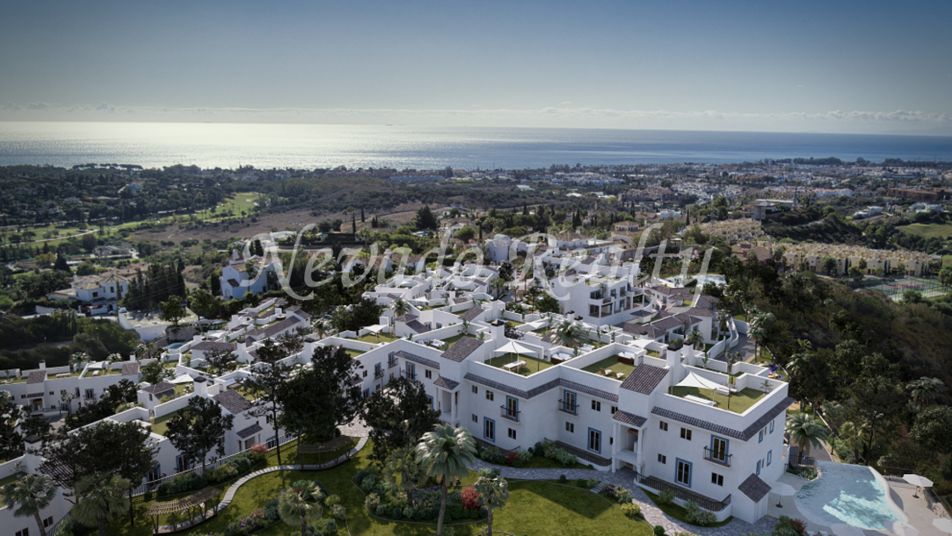 Promotion for sale with views of the golf, the sea and the mountains