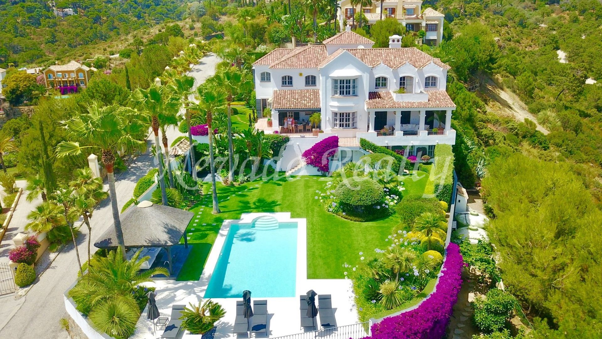 Mediterranean style villa with stunning panoramic views of the coast and the sea