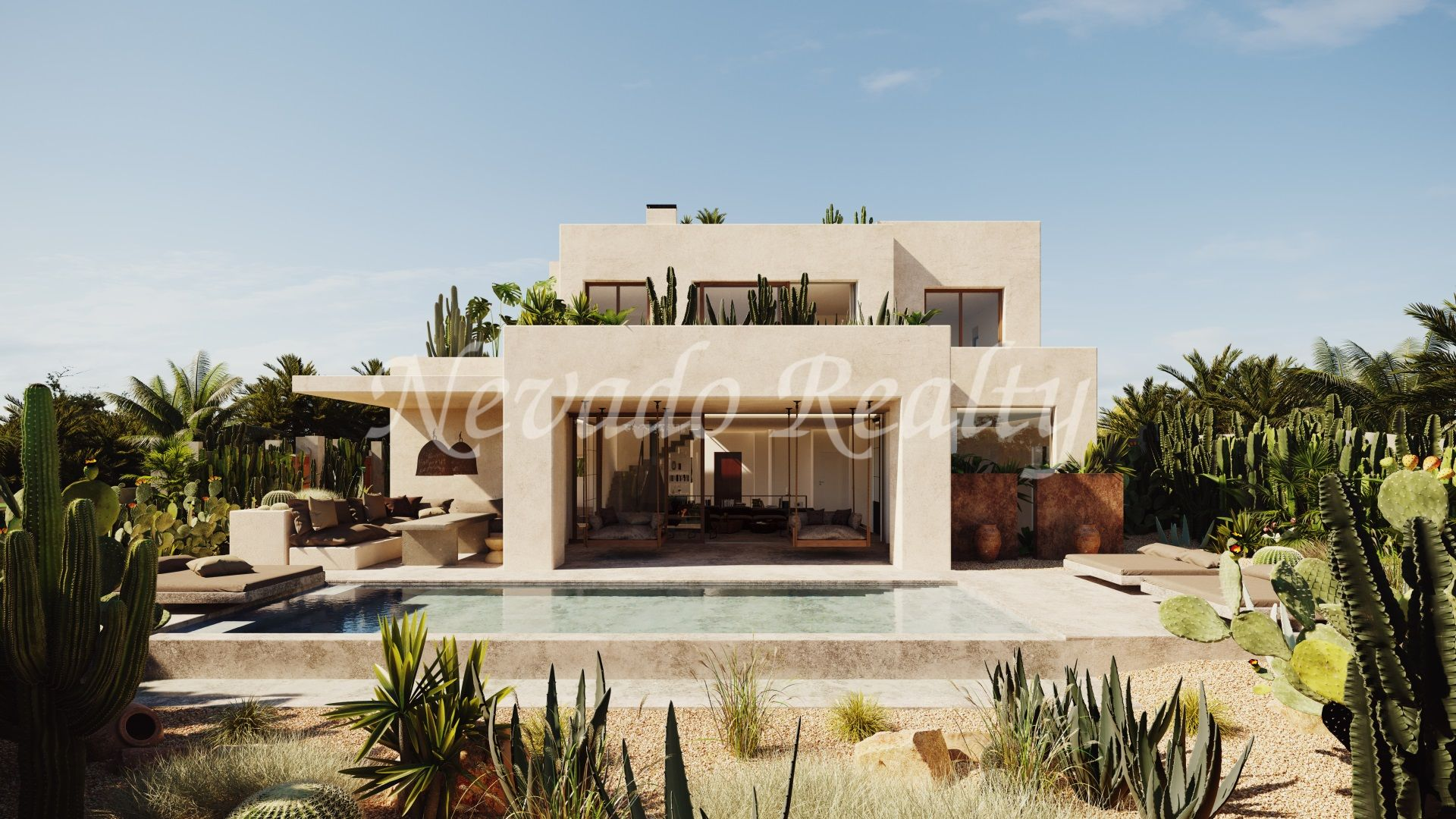 Brand new beachside villa for sale in urbanization with security in Marbella