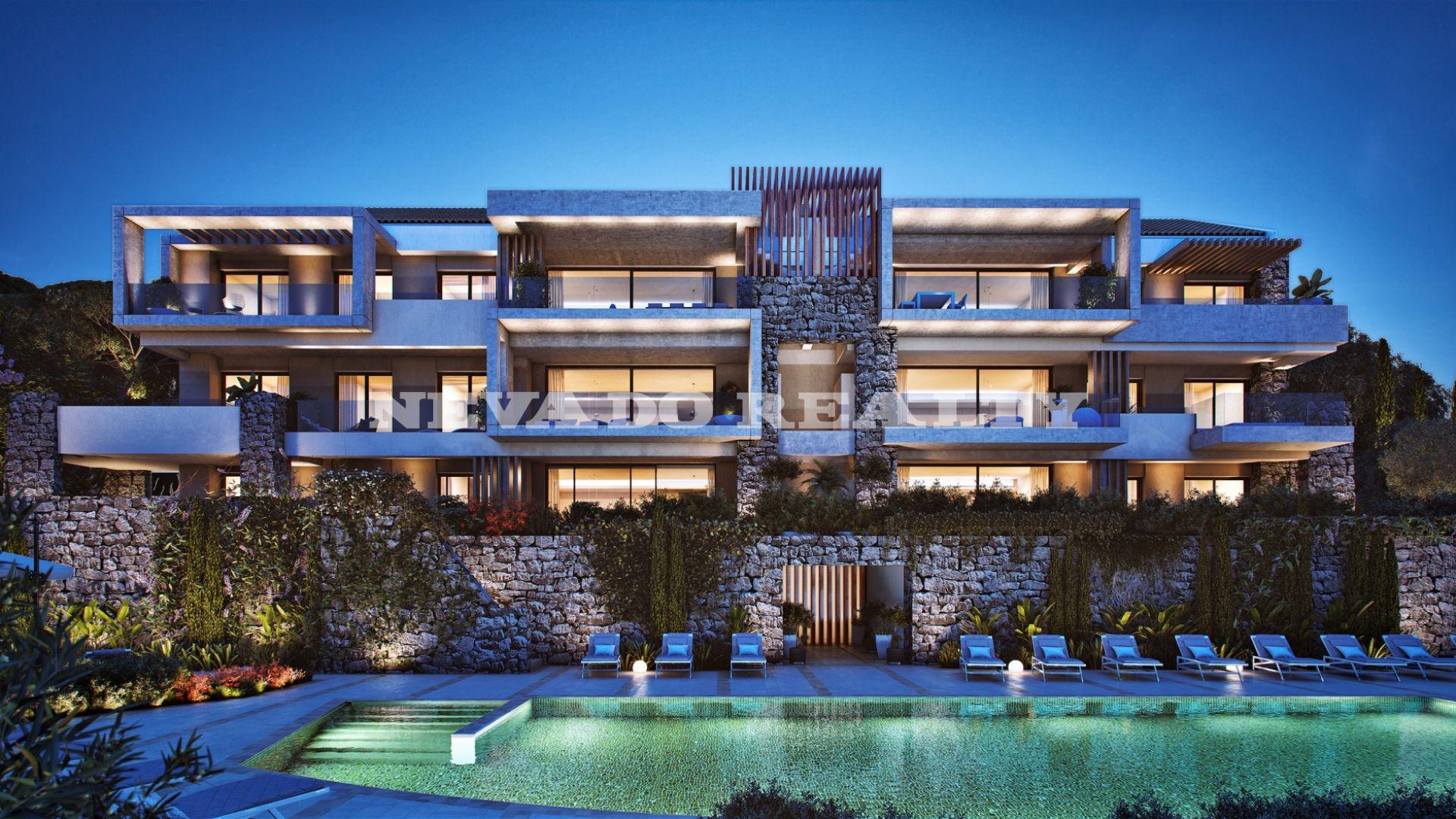 appartement au rez de chauss e avec grand jardin priv dans un nouveau complexe de luxe la quinta. Black Bedroom Furniture Sets. Home Design Ideas