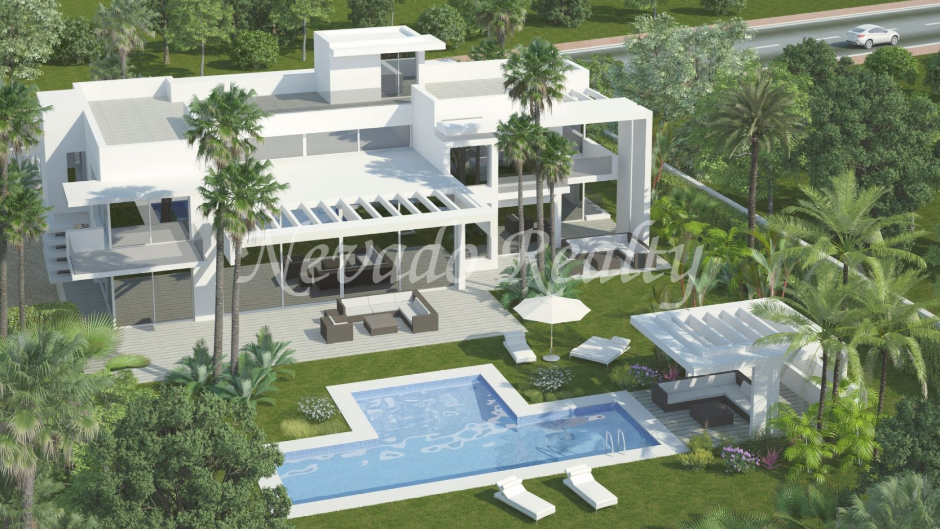 Magnificent brand new villa on the beach in Guadalmina Baja