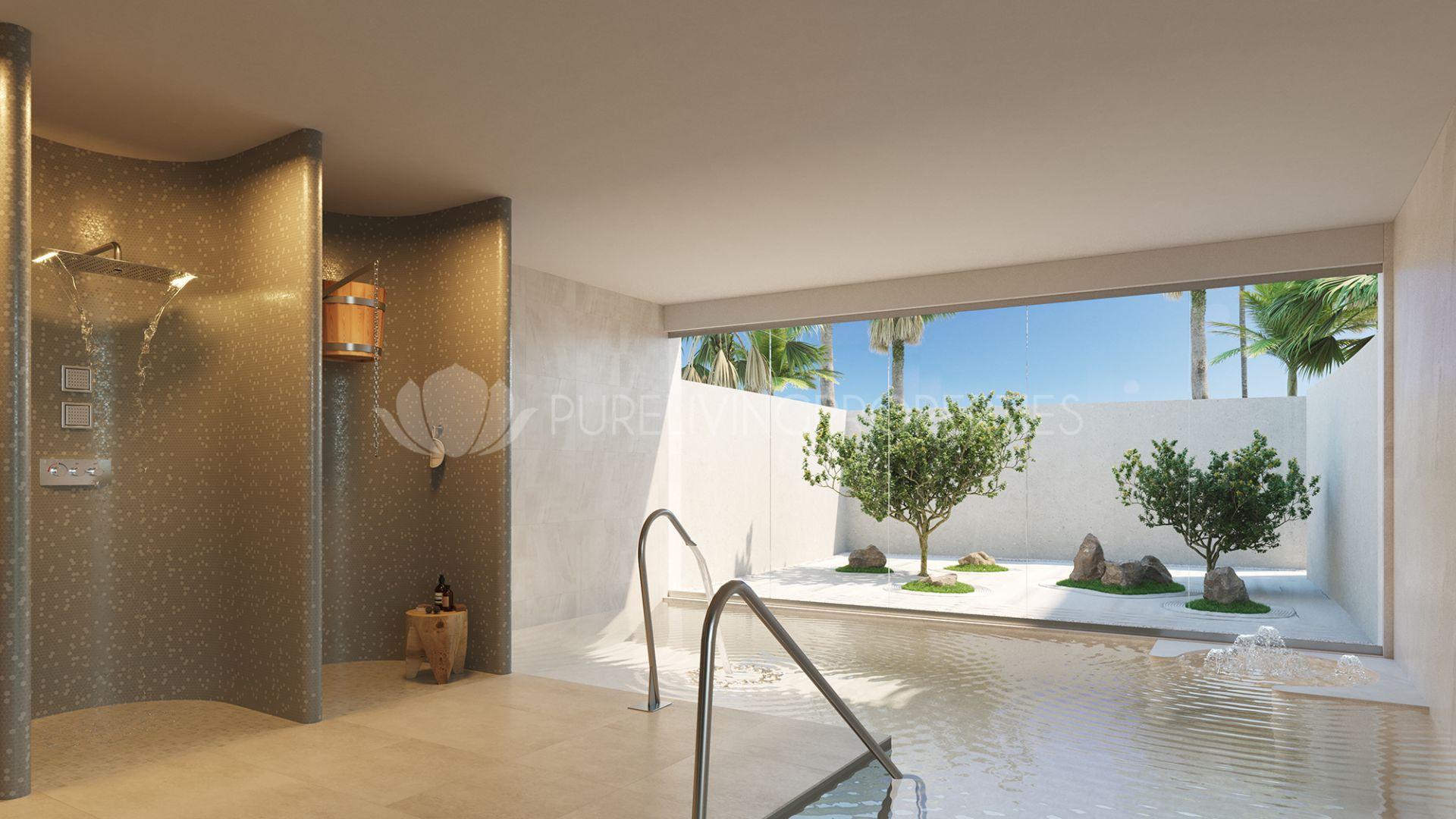 luxueux appartement au rez de chaussee en premi re ligne de plage. Black Bedroom Furniture Sets. Home Design Ideas