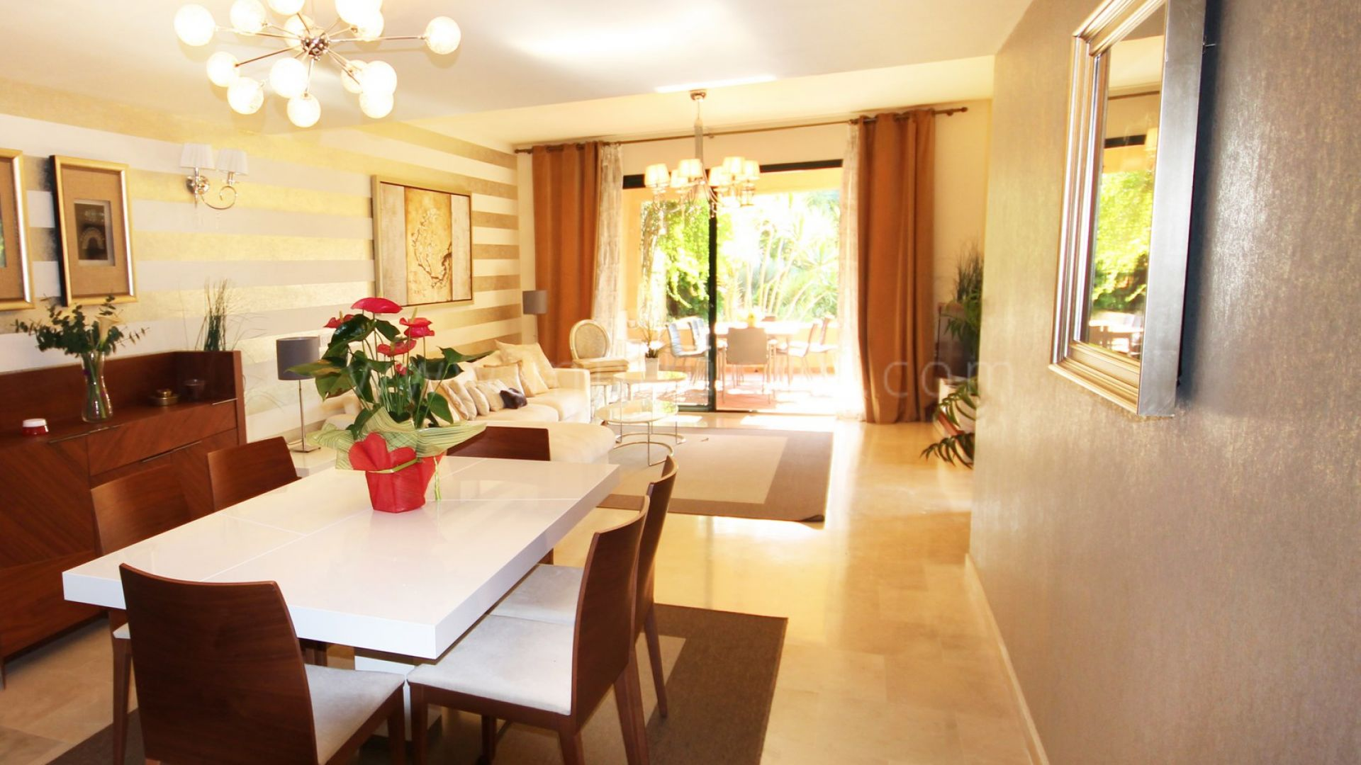 3 bedroom ground floor apartment in el campanario estepona for Kitchen room estepona