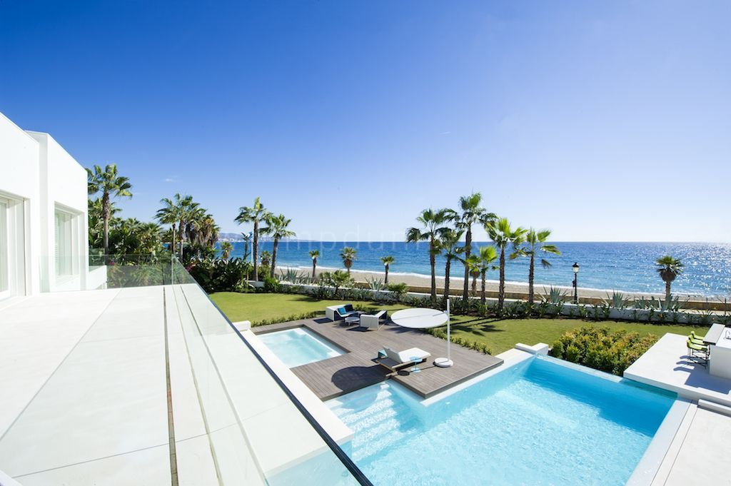 Contemporary front line beach villa for sale at puerto banus - Iproperty marbella ...