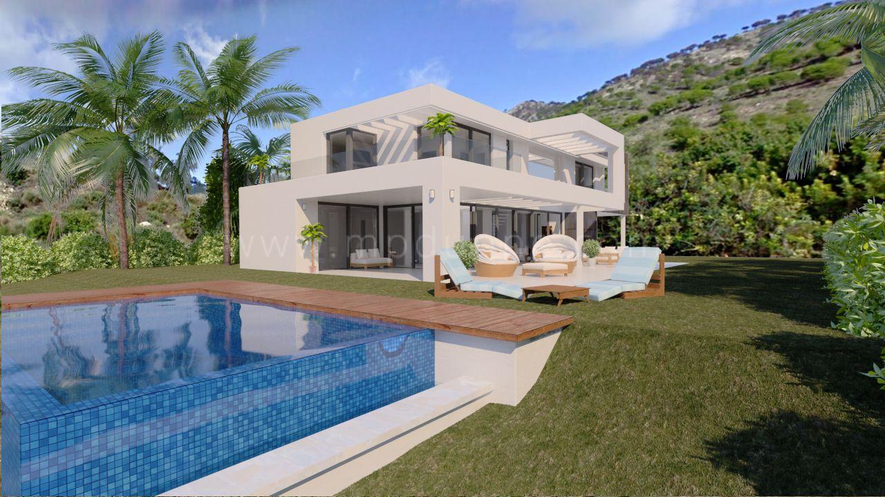 Nouvelle belle villa moderne sur plans mijas for Belles villas modernes