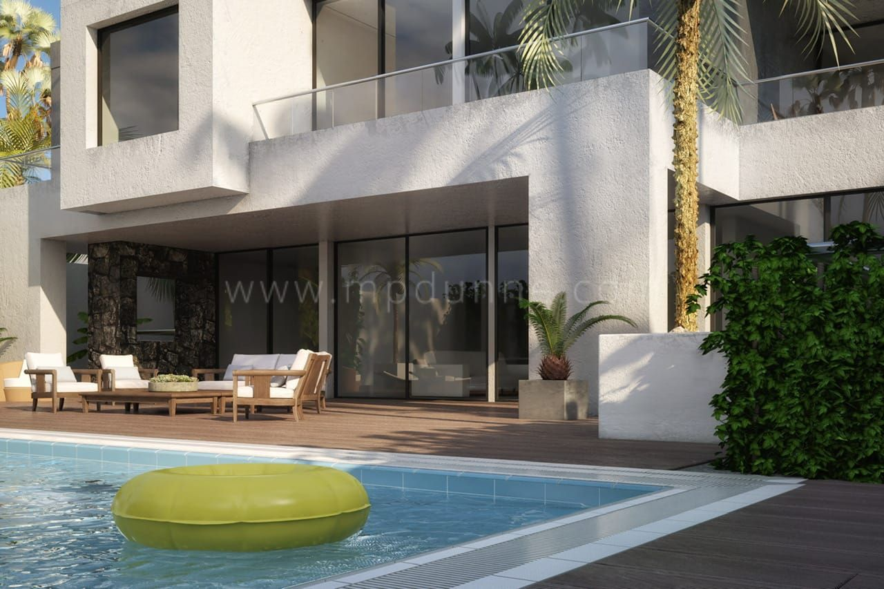 Modern villa in casablanca golden mile marbella for Construction villa casablanca