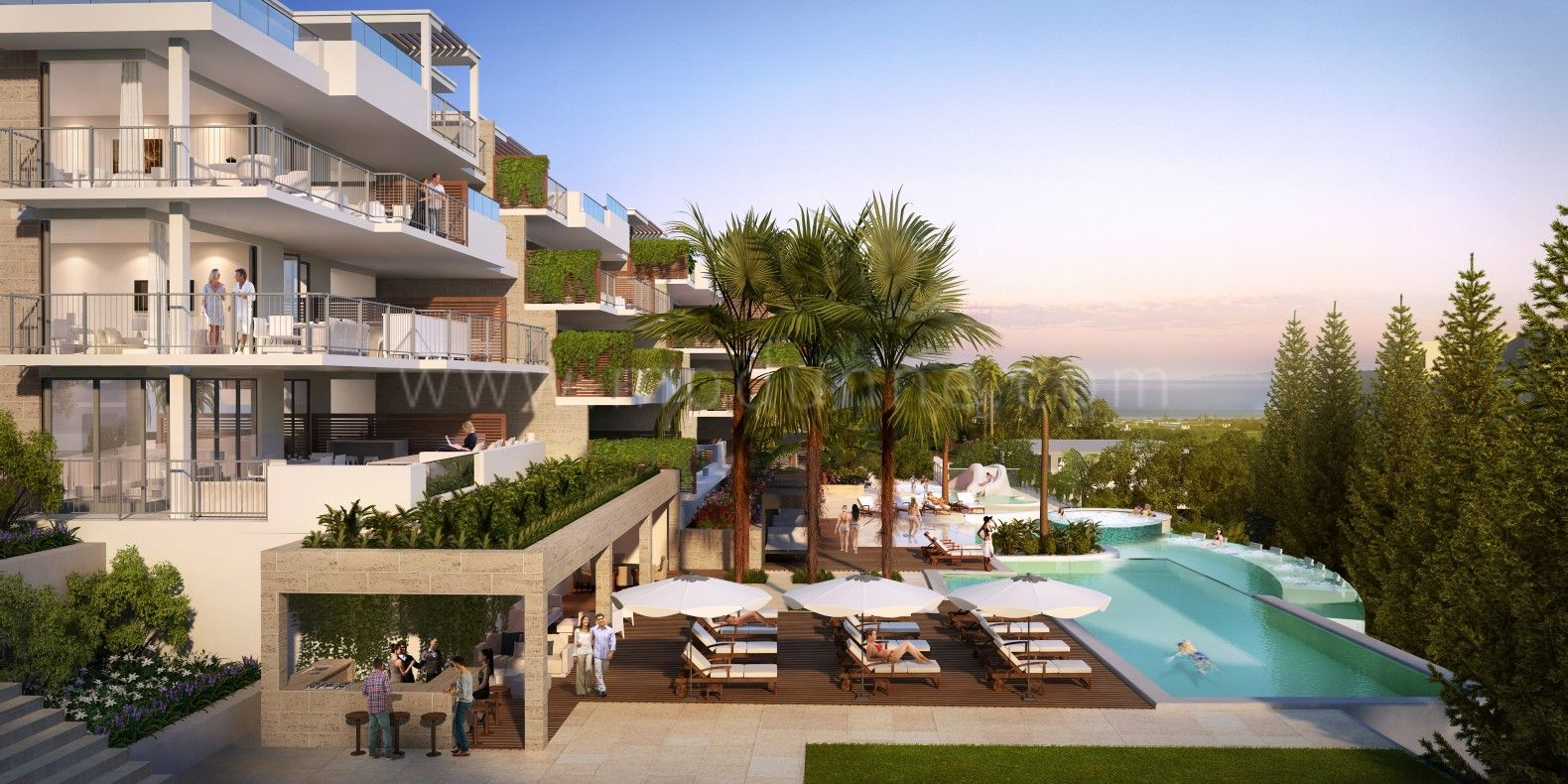 Development in Cala de Mijas, Mijas Costa