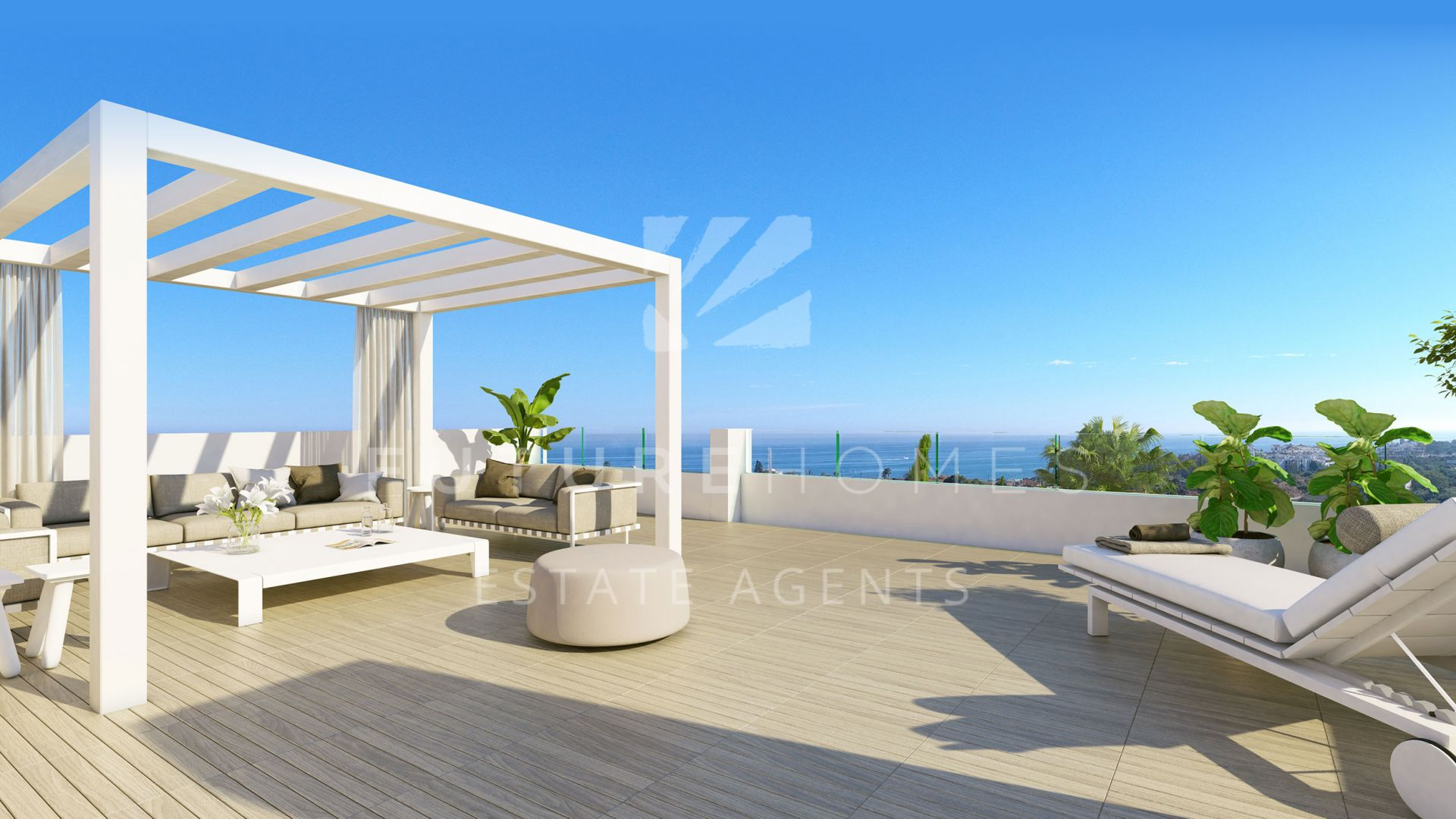 Stylish modern penthouse only five minutes from Estepona and within walking distance to the beach