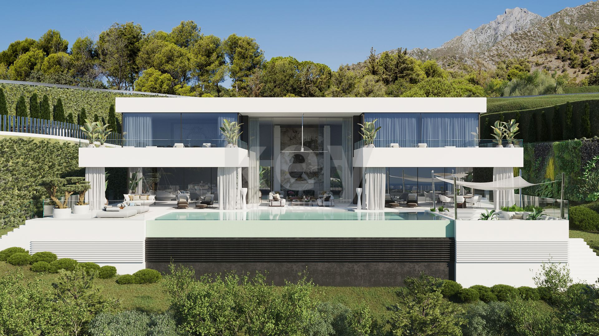 Luxury panoramic sea views villa for sale in Benahavis