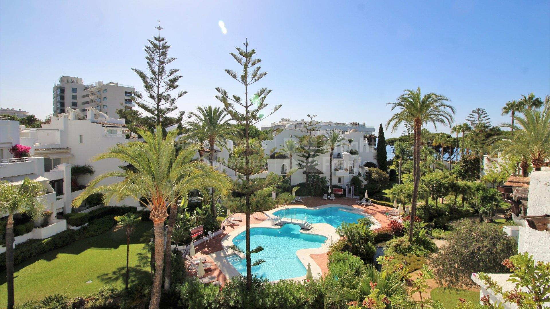 Duplex Penthouse In Beachside Development Duplex Penthouse For Sale In Alhambra Del Mar Marbella Golden Mile