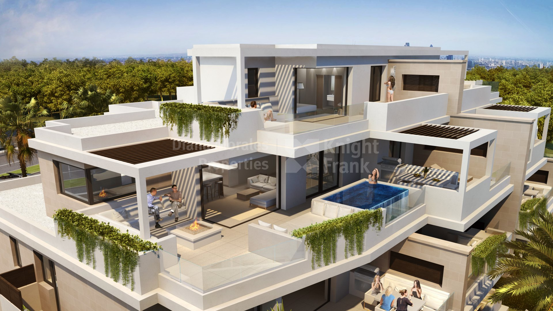 New Golden Mile, Fabuleux appartement penthouse en duplex sur le front de mer