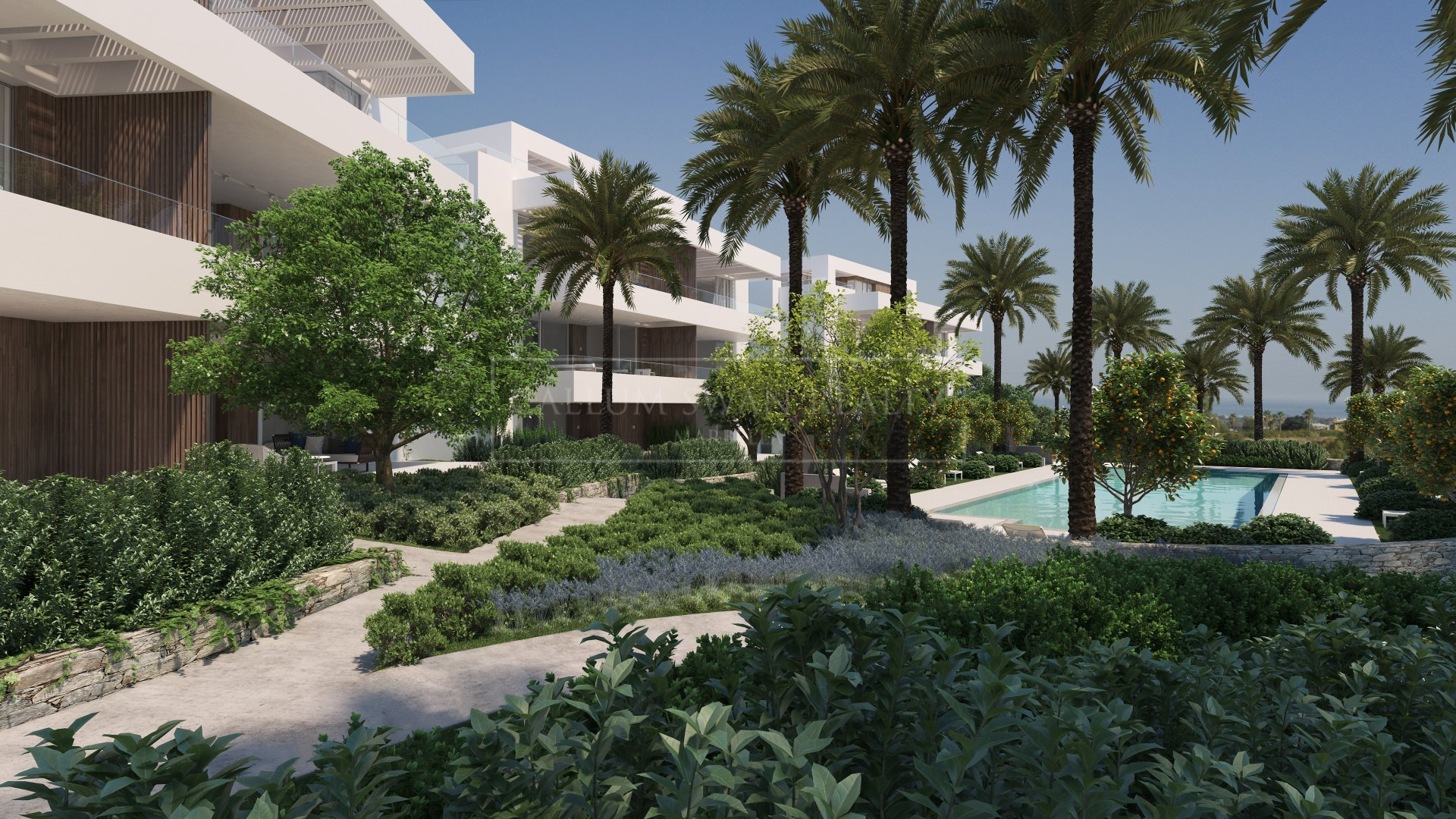 Brand new luxury apartment in a gated modern complex in Benahavis with stunning views