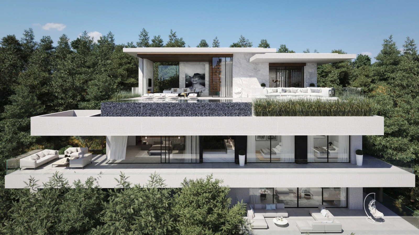 New villa in El Madroñal with panoramic views