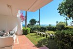 Garden apartment right on the sea next to Puerto Banus