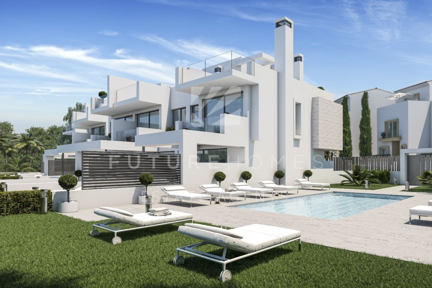 BRAND NEW modern semi-detached house next to the beach in Estepona!