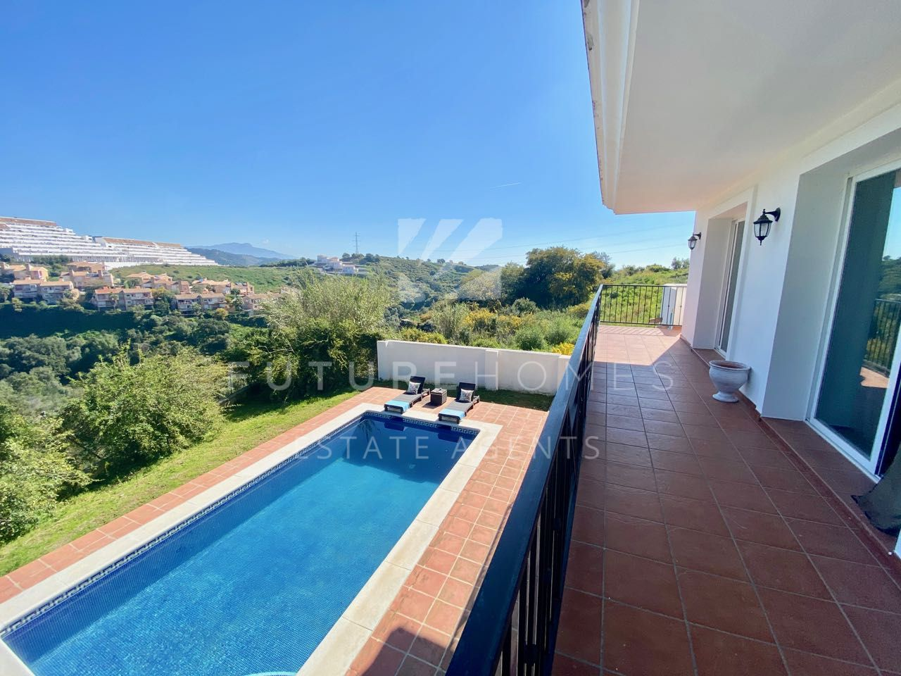 Spacious villa for sale with open mountain views in Forest Hills Estepona