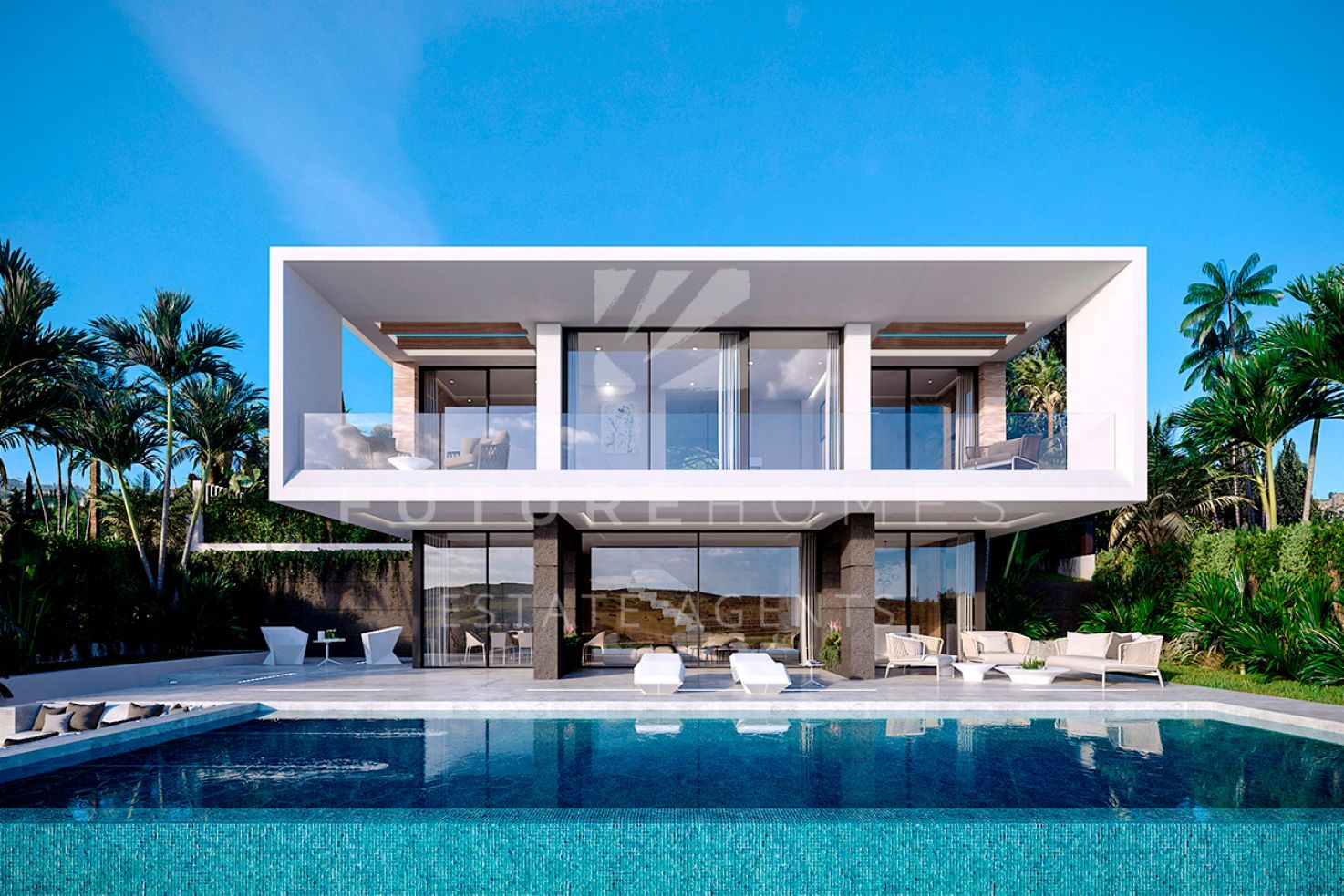 Modern villa with spectacular golf and sea views for sale in Valle Romano!