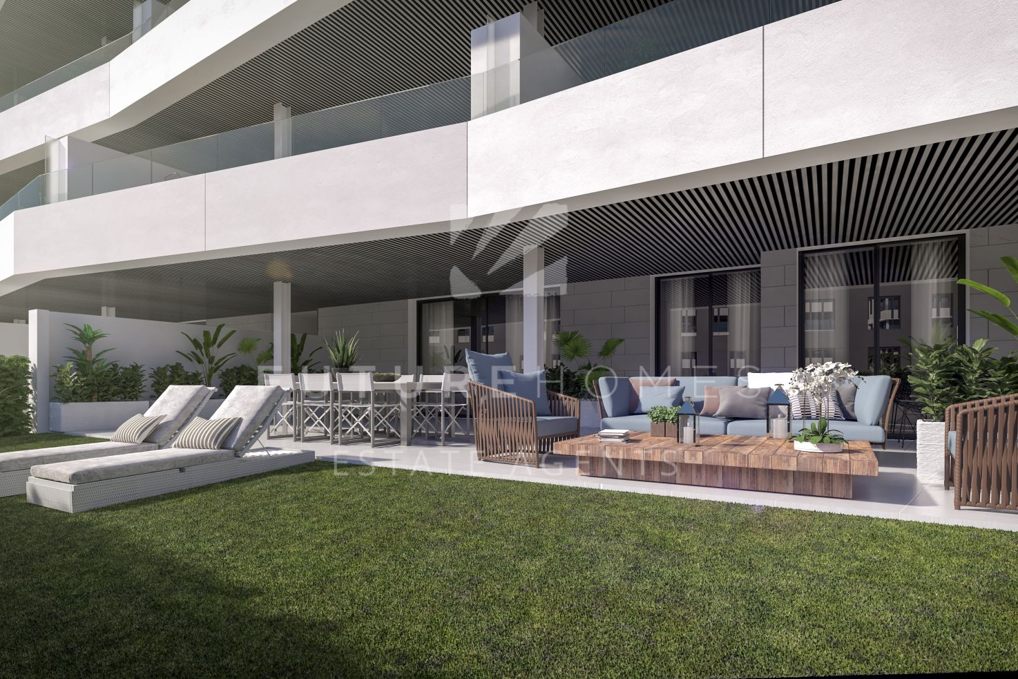Modern ground floor apartment with large terrace and garden in Valley Homes Estepona