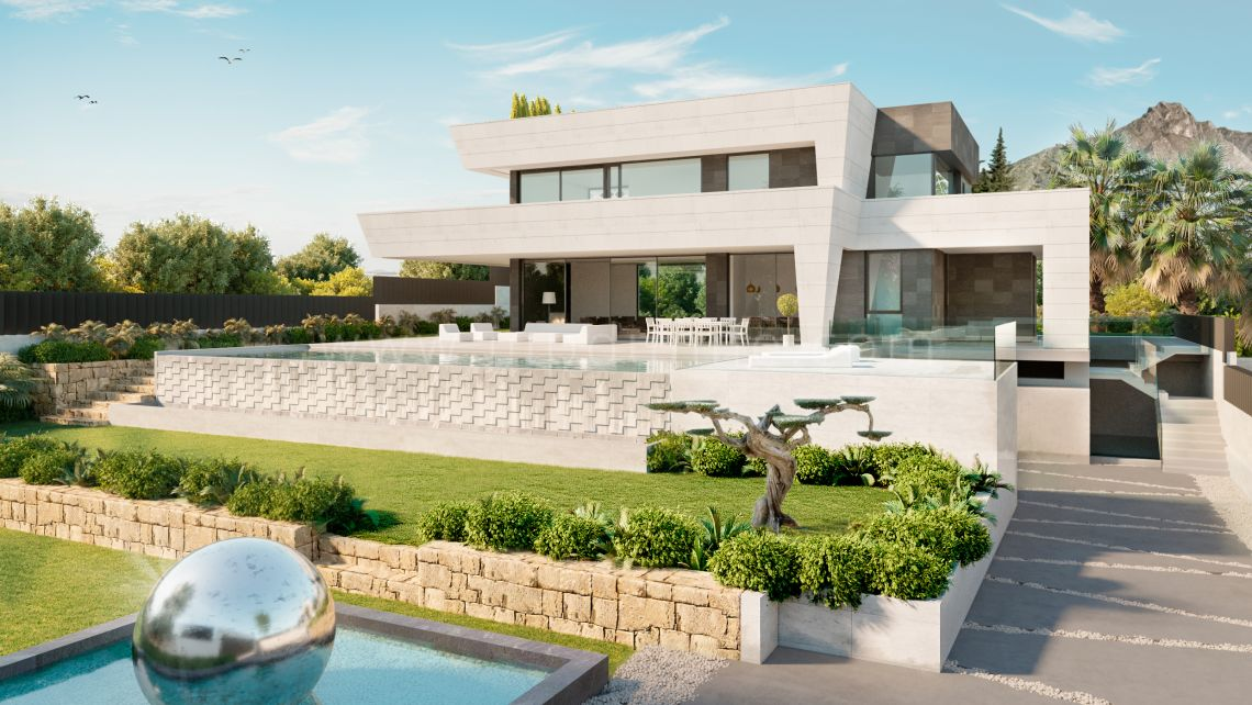 Marbella Golden Mile, Modern Villa for sale in Altos de Puente Romano