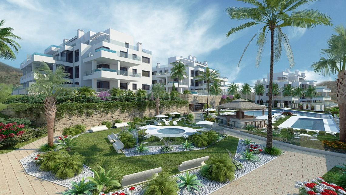 Mijas Costa, Modern apartments in Mijas Costa with sea views
