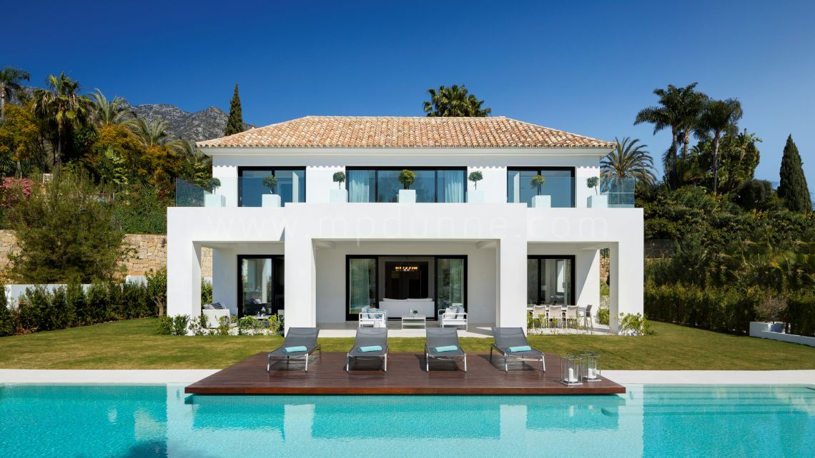 Marbella Golden Mile, Sierra Blanca Beautiful New Modern Villa