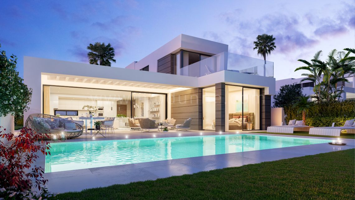 Mijas, New, modern 4 bedrooms villa in Mijas