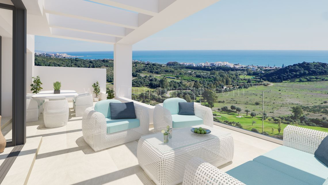 Estepona, New off apartments with sea views in Estepona Golf