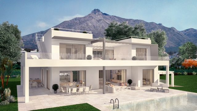 Marbella Golden Mile, Villa under construction in Marbella Golden Mile