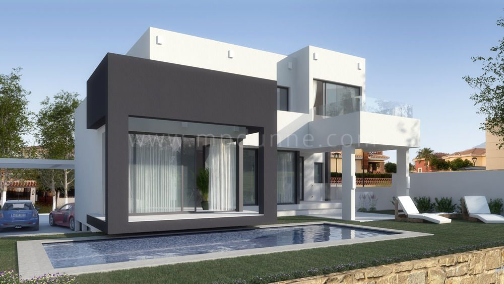 Mijas, 3-bedroom modern villa for sale off-plan in La Noria, Mijas