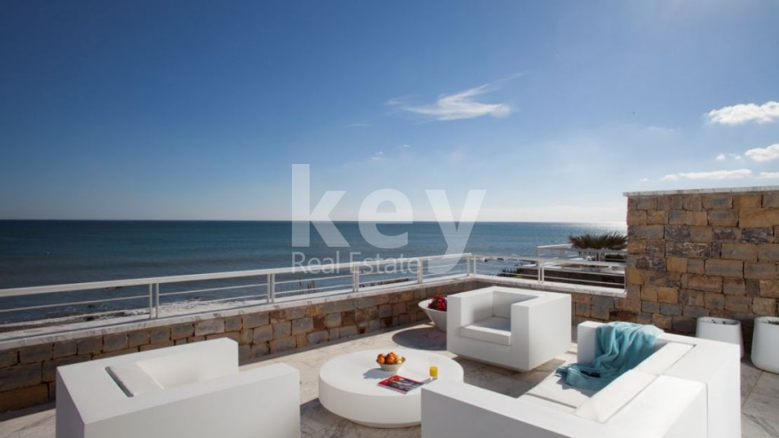 Frontline beach modern penthouse for sale in Casares
