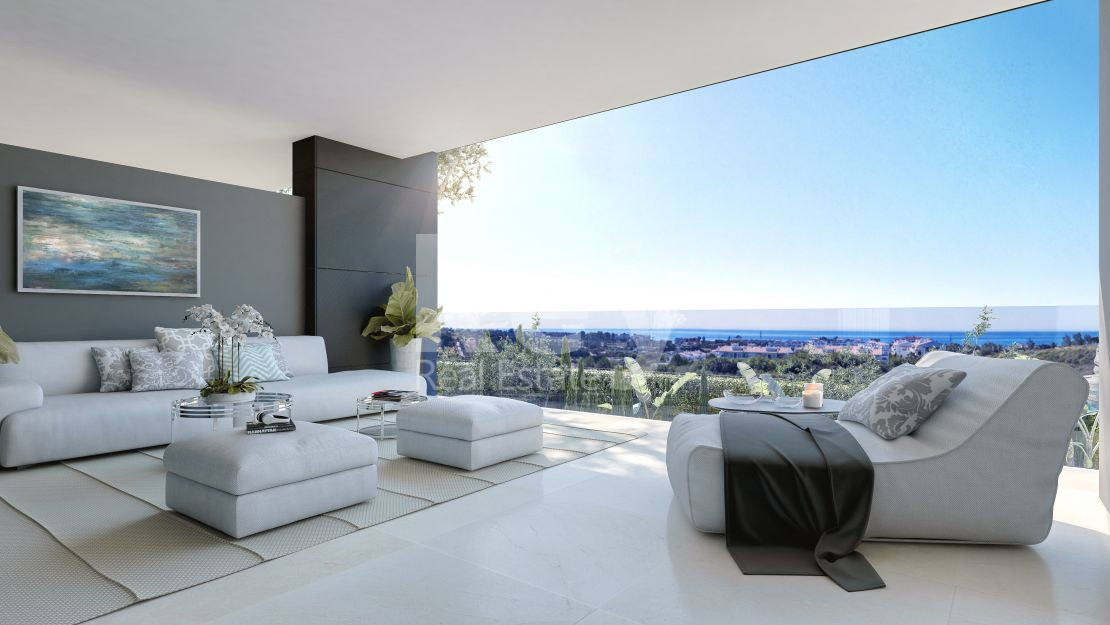 Contemporary sea views apartment in New Golden Mile, Estepona