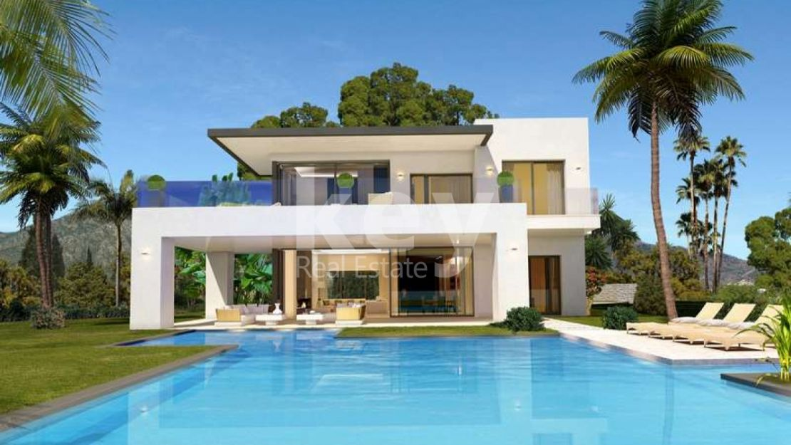BRAND-NEW CONTEMPORARY VILLAS WITH PANORAMIC SEA VIEWS IN GOLDEN MILE, MARBELLA