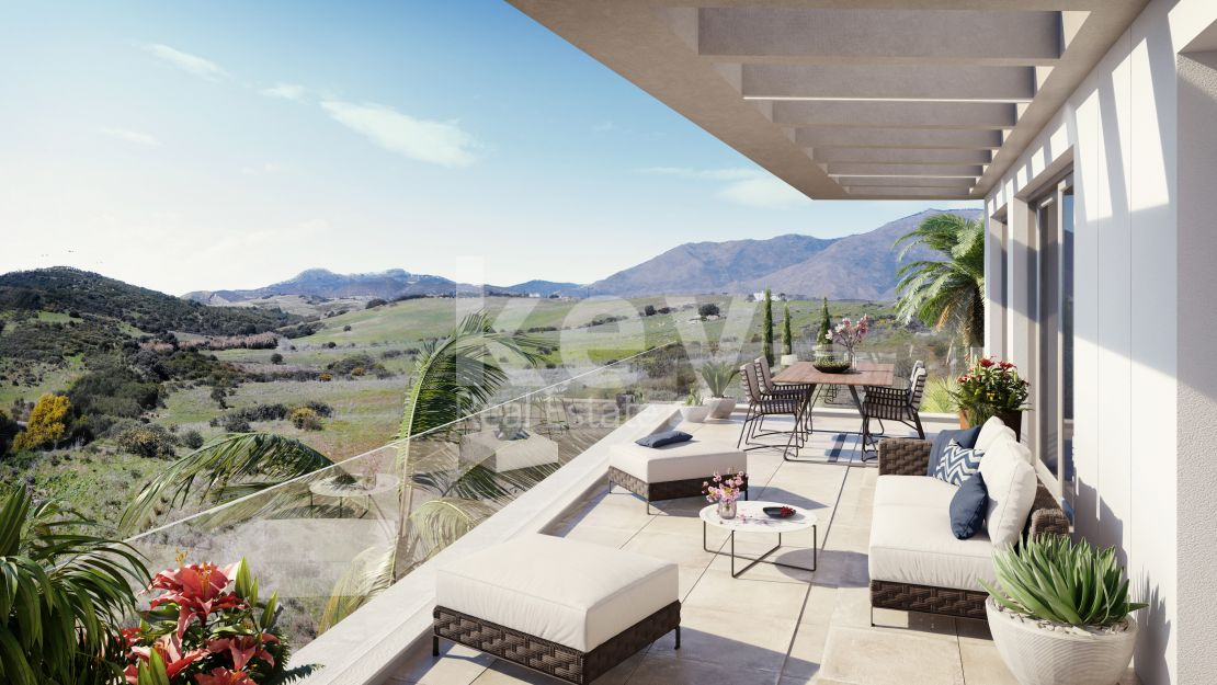 Modern ground floor apartment close to the beach and in gated community, Casares