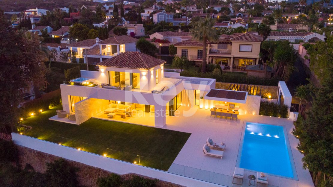 Stunning home with panoramic views in exclusive area of Los Naranjos, Marbella