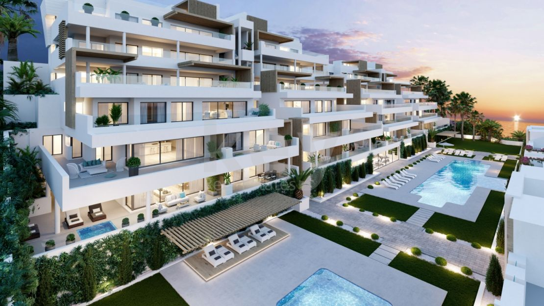 Modern apartments for sale in gated community close to the beach, Estepona