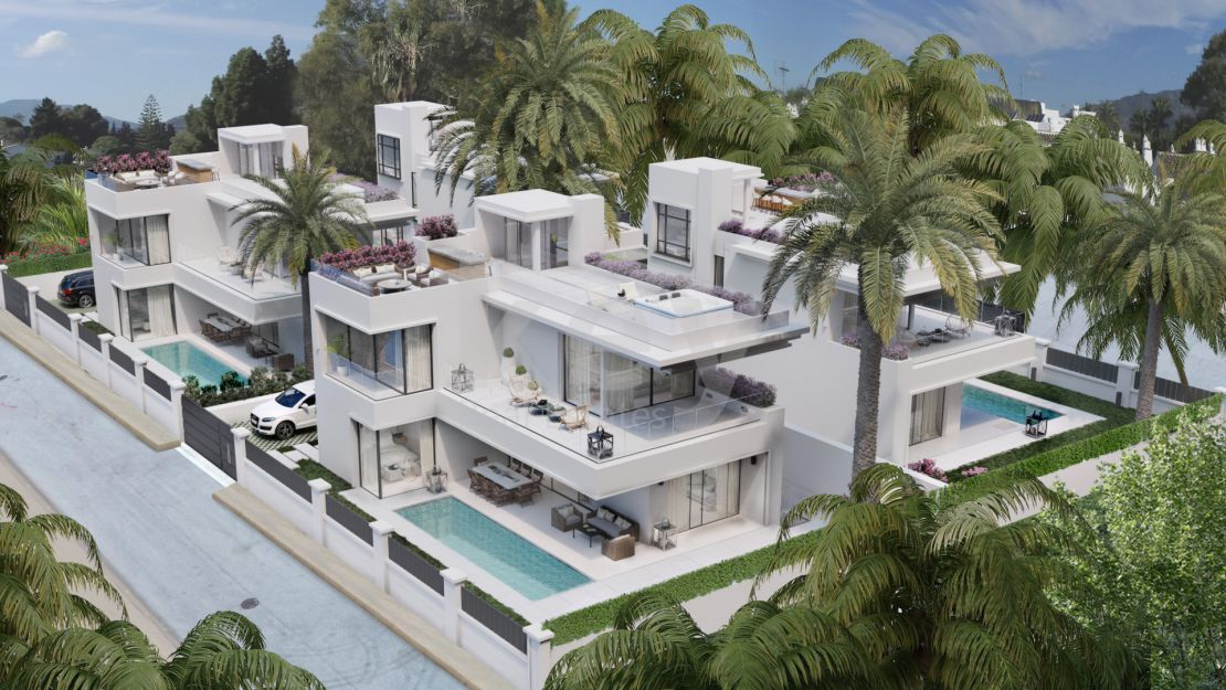 Modern villas for sale within walking distance to the beach and Puerto Banús, The Golden Mile