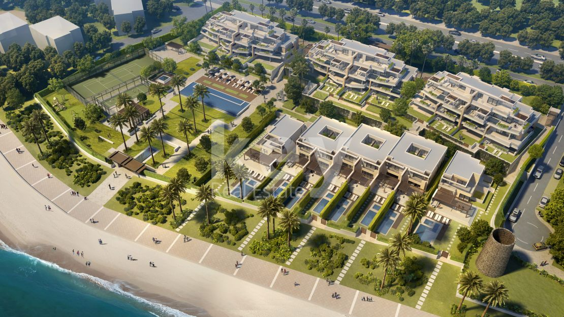 Frontline beach apartments and villas in New Golden Mile, Estepona