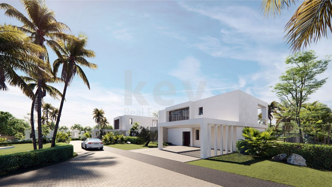 Modern villas for sale in a secure gated community, Marbella