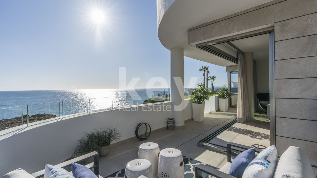 Incredible beachfront penthouse in Mijas Costa