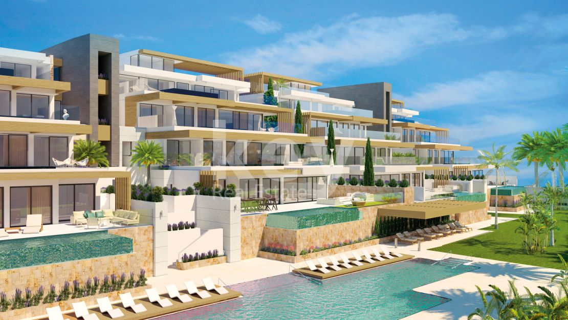 Luxury apartments with private pool in Benahavis