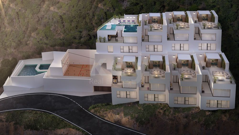 Mountainside modern apartment for sale in Benahavis