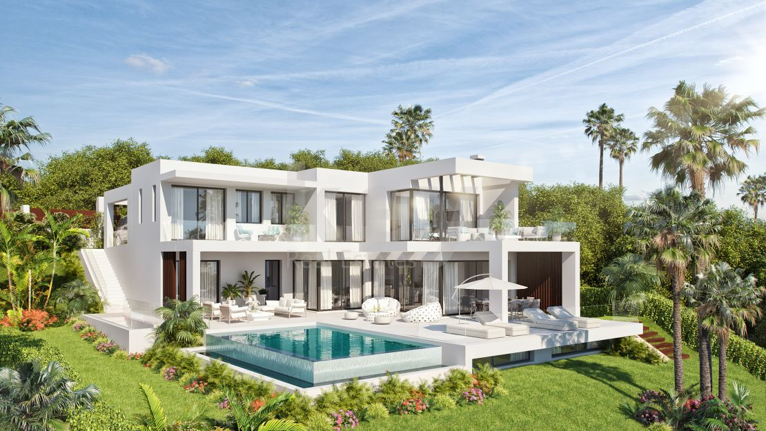 Sea views modern villa in New Golden Mile, Estepona