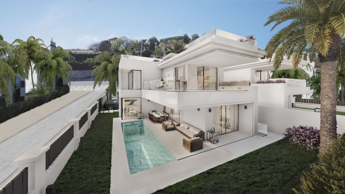Second line modern villa close to Puerto Banús, The Golden Mile