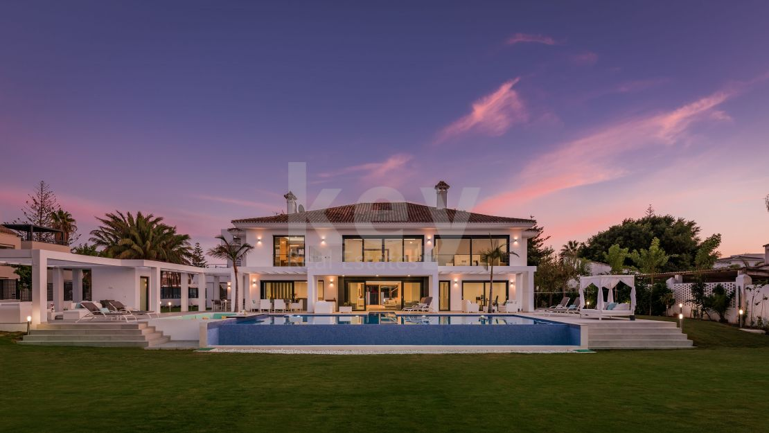Second line beach modern villa for sale in Casasola, Estepona