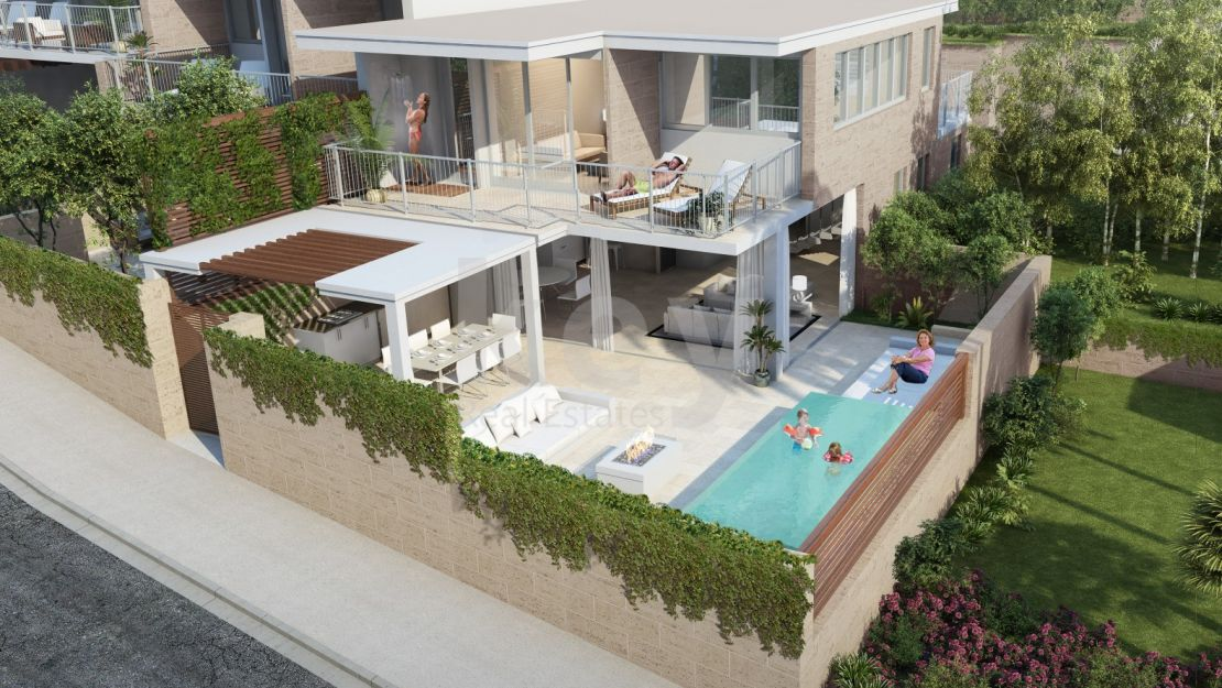 Modern sea views villa for sale in gated community, Cala de Mijas