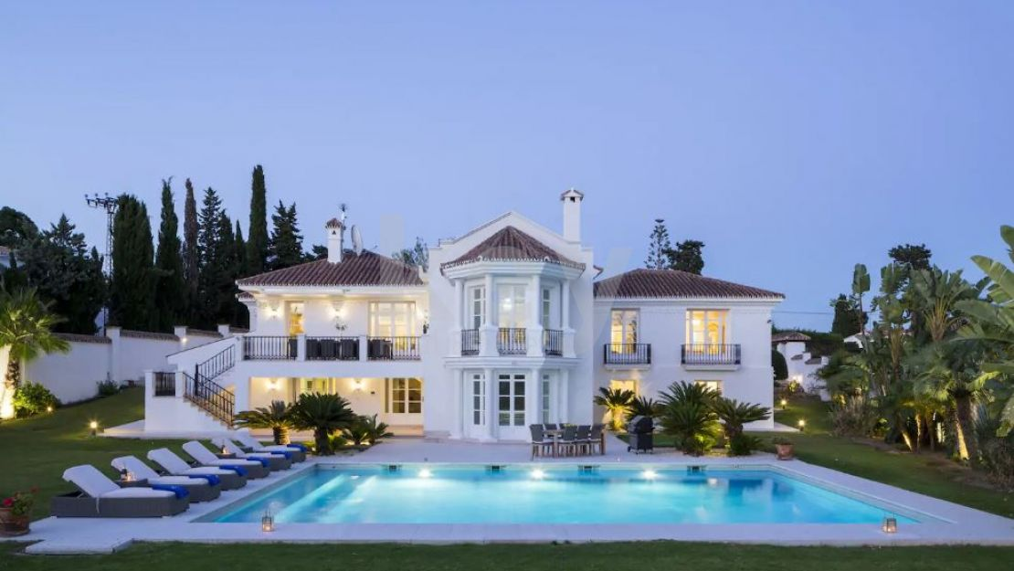 Luxury villa for short term rent close to the beach, Golden Mile, Marbella