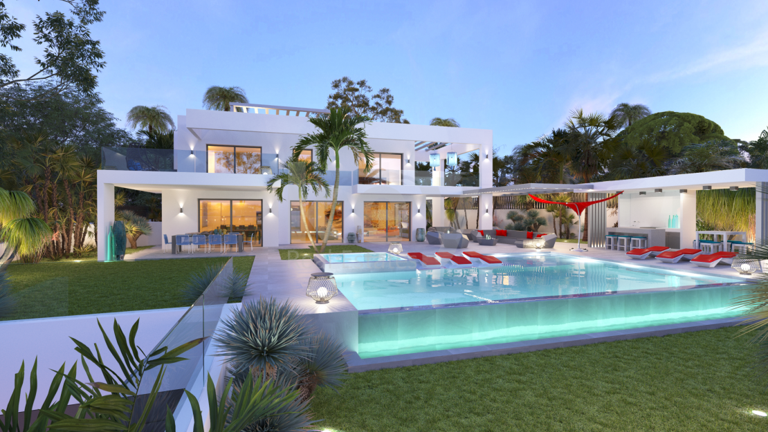 Beachside luxury villa with panoramic sea views in Marbesa, Marbella