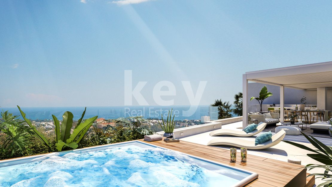 Luxury panoramic sea views penthouse in La Quinta, Benahavis